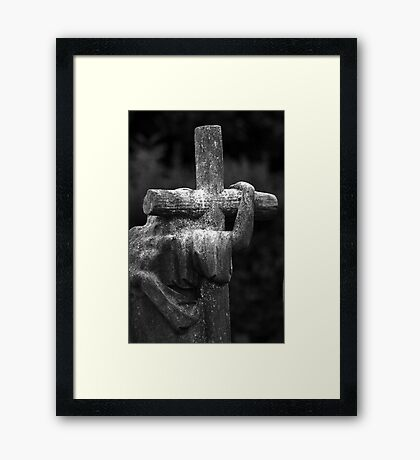 The Cross We Bare Framed Print