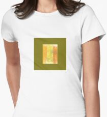 Abstract Art With Scribbles And Flourishes Women's Fitted T-Shirt