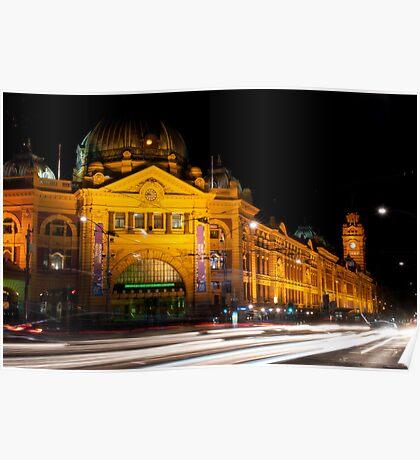 9:45 at Flinders Street Station - Melbourne Poster