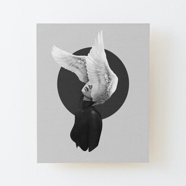 The Swan Wood Mounted Print