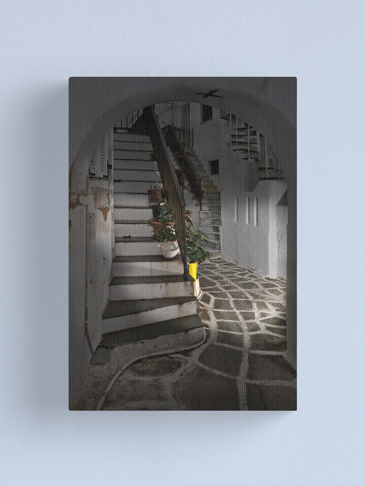 Alternate view of Two Staircases and an Alley Canvas Print