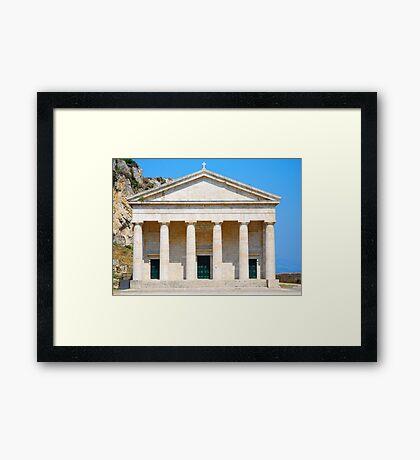 St George's Church at the Palaio Frourio, Corfu Framed Print