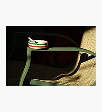 lonely ashtray  Photographic Print