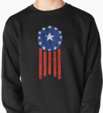 Old World American Flag Pullover
