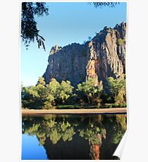 reflection at windjana gorge Poster