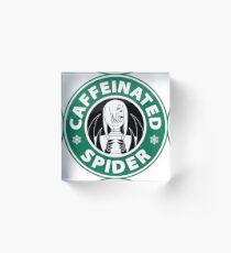 "Rachnera ""Caffeinated Spider"" Logo Acrylic Block"