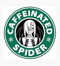 "Rachnera ""Caffeinated Spider"" Logo Photographic Print"