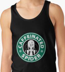 """Rachnera """"Caffeinated Spider"""" Logo Tank Top"""