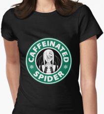 """Rachnera Logo """"Koffeinhaltige Spinne"""" Tailliertes T-Shirt für Frauen"""