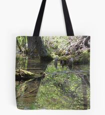 Reflections In A Forest Pond Tote Bag