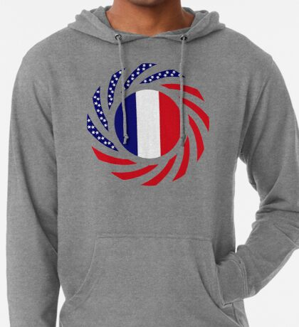 French American Multinational Patriot Flag Series Lightweight Hoodie