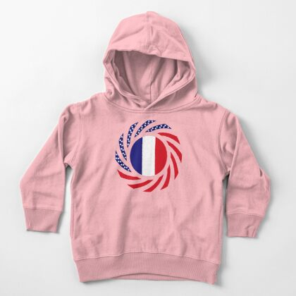 French American Multinational Patriot Flag Series Toddler Pullover Hoodie