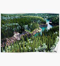 Yukon River Gorge Poster