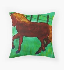 What happened to you? watercolor Throw Pillow