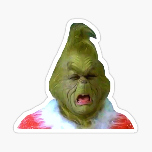 Grinch Crying  Sticker