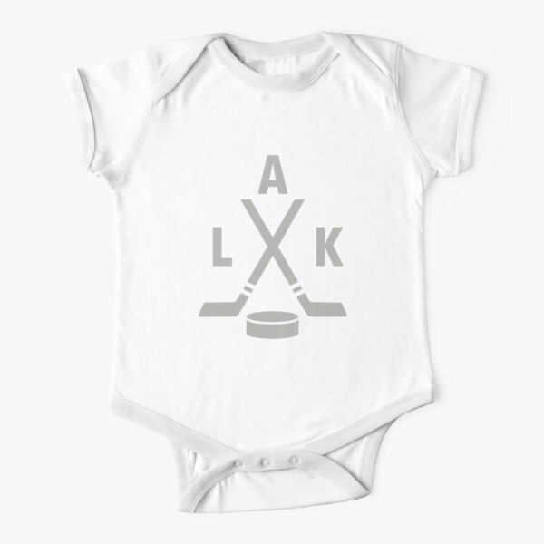 Los Angeles Kings Abbreviation Short Sleeve Baby One-Piece
