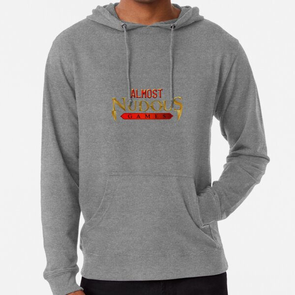 Almost Nudous Games Logo Lightweight Hoodie