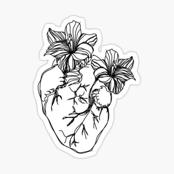 Rupi Kaur heart  Sticker