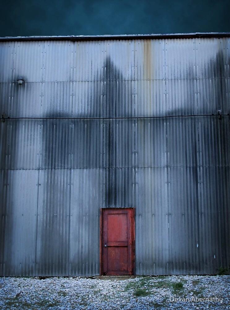 Behind Red Door No. 1 by Devan Abernathy