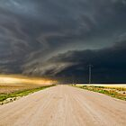 Dark roads ahead - Sharon Springs, Kansas by Troy Barrett