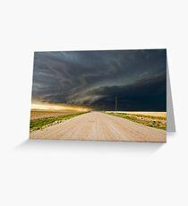 Dark roads ahead - Sharon Springs, Kansas Greeting Card