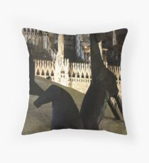 Cathedral Horses. Piazza Duomo, Milan, Italy 2011 Throw Pillow