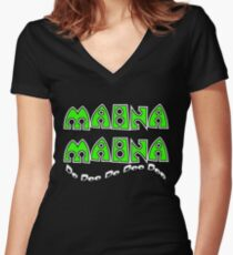 Mahna Mahna Women's Fitted V-Neck T-Shirt