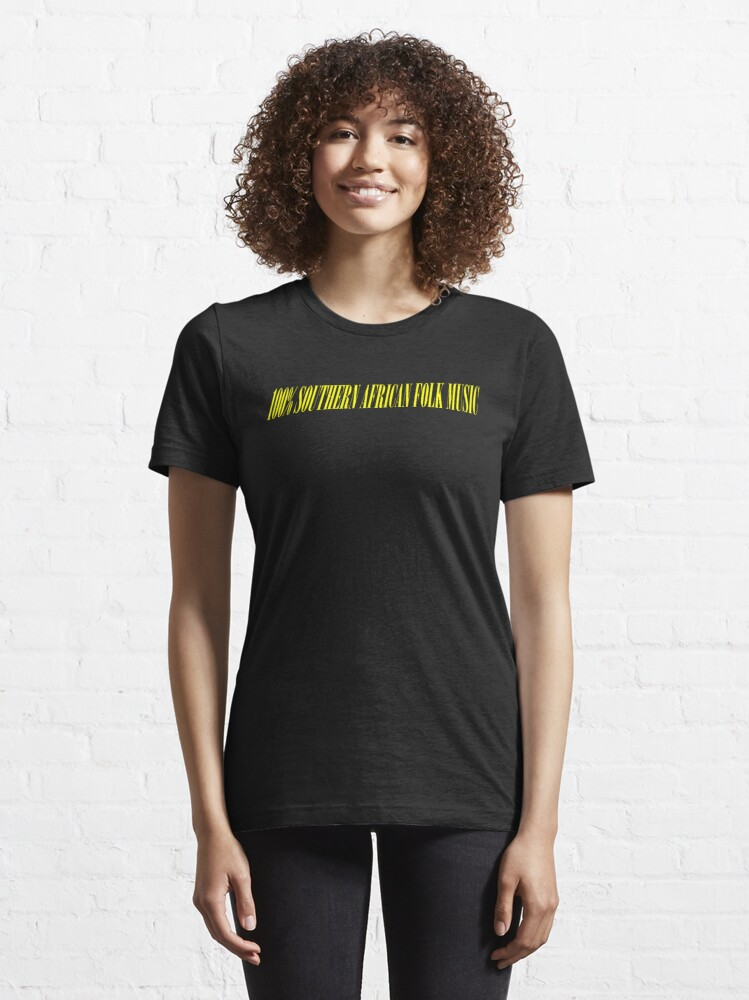 Alternate view of 100% SOUTHERN AFRICAN FOLK MUSIC Essential T-Shirt