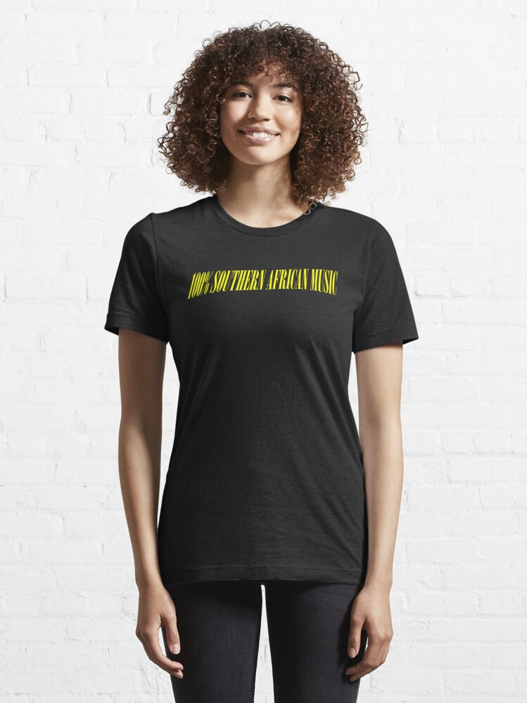 Alternate view of 100% SOUTHERN AFRICAN MUSIC Essential T-Shirt