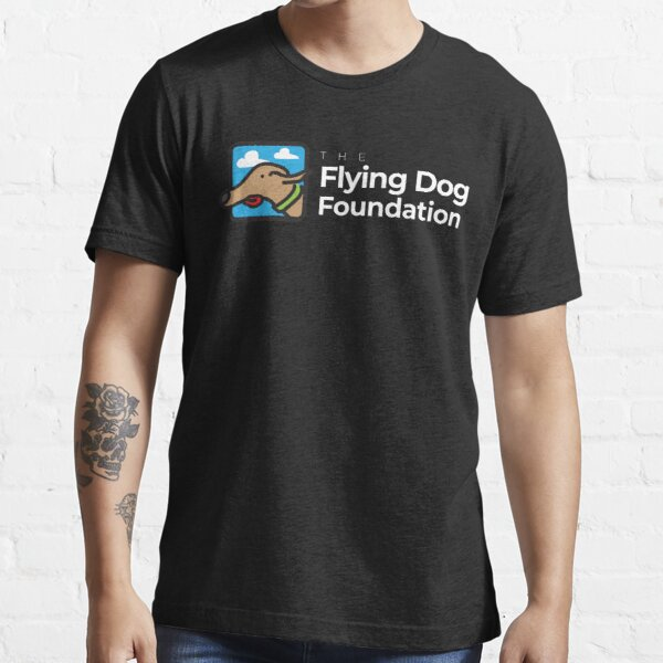The Flying Dog Foundation Logo - White Type Essential T-Shirt