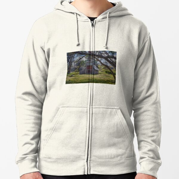 Wallaces Hut, Falls Creek Zipped Hoodie