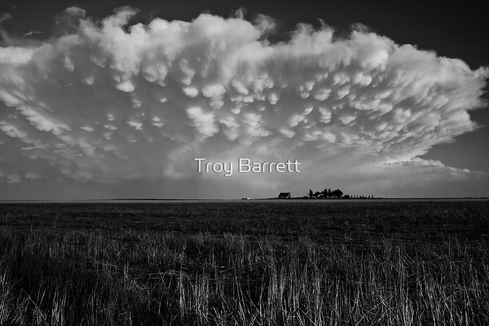 B&W Healy Kansas Thunderstorm by Troy Barrett