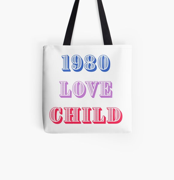 1980 Love Child All Over Print Tote Bag
