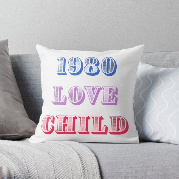 1980 Love Child Throw Pillow