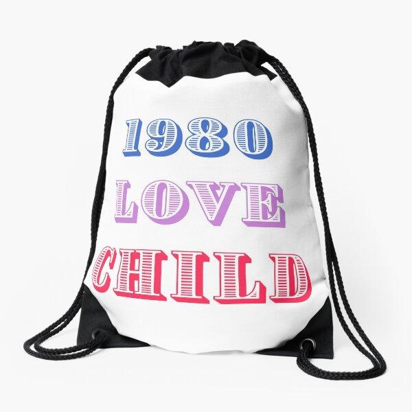 1980 Love Child Drawstring Bag