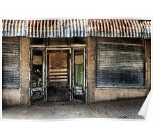 Old Store Front - Somewhere in West Texas Poster