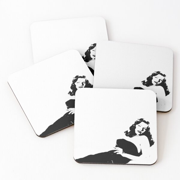 4 x Coaster Set for Drinks Cups Rita Hayworth 1 Famous Icon
