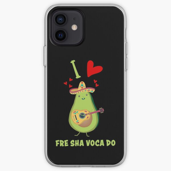 I Love Fre Sha Voca Do Fresh Avocado Funny iPhone Soft Case