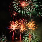 Docklands winter fireworks by Robyn Lakeman