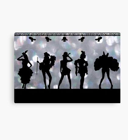 Welcome to Burlesque Canvas Print