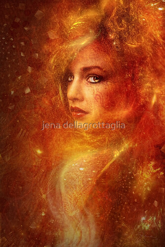 High Priestess Fire by jena dellagrottaglia