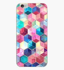 Topaz & Ruby Crystal Honeycomb Cubes iPhone Case