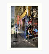 Laneway graffiti Art Print
