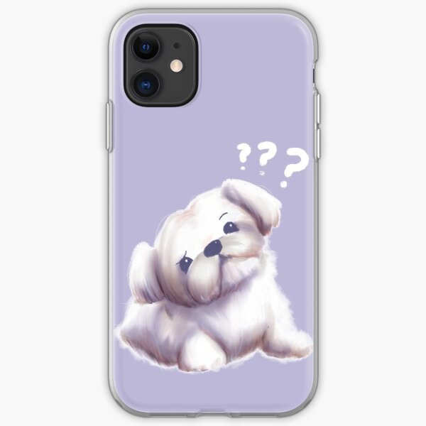 Confused Maltese iPhone Soft Case