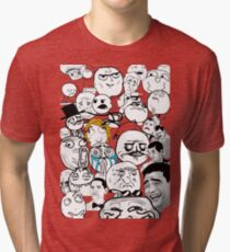 Meme compilation Tri-blend T-Shirt