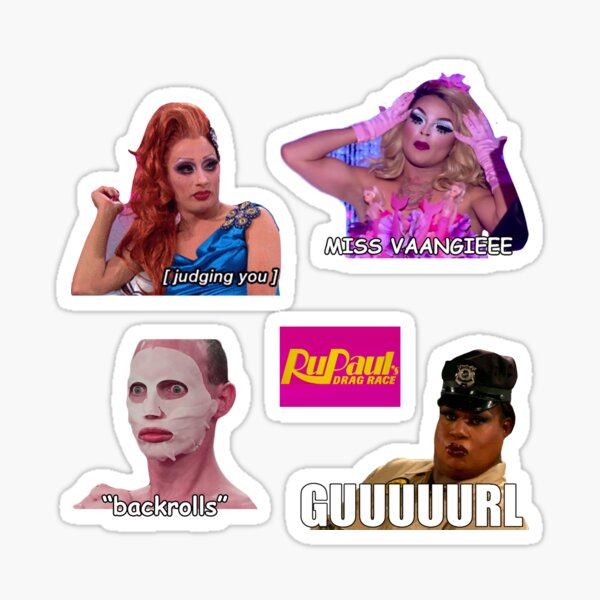 Ensemble d'autocollants Meme RuPaul Drag Race Sticker