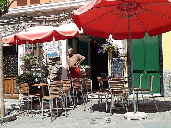A Street Scene in Cinque Terre, Italy. by joycee