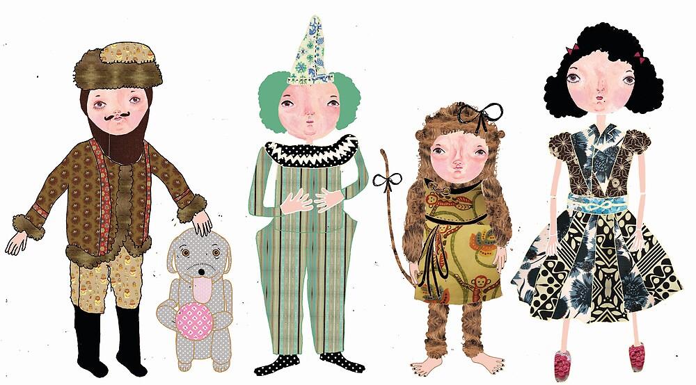 Vintage toys by EmmaIllustrator