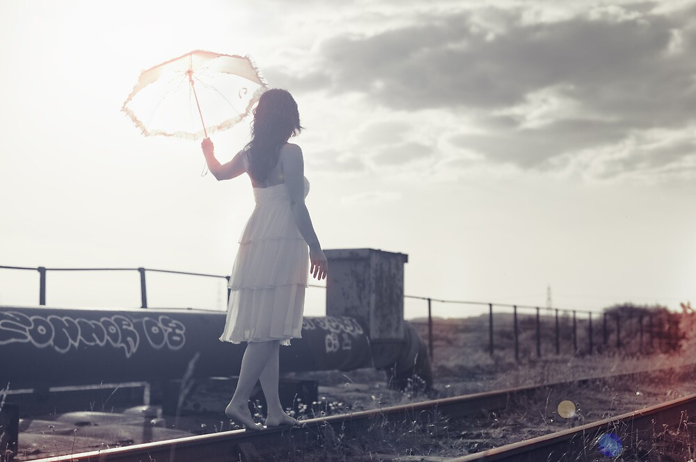 White umbrella by Maciej Gowin