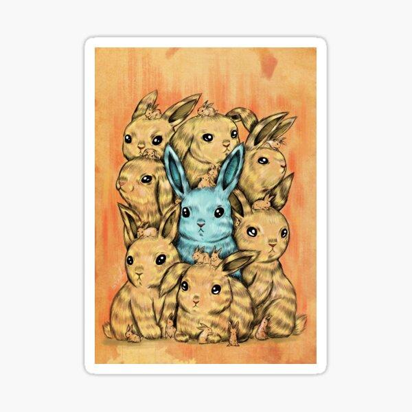 Bunny Blue Sticker